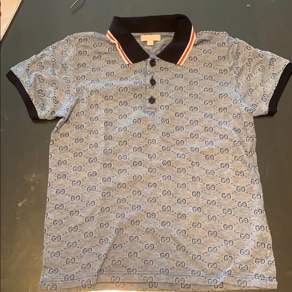 85e05e78adc9 Gucci Shirts & Tops | Authentic Gh Print Polo Shirt Boys | Poshmark